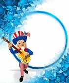 uncle sam with gitar