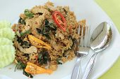 Fried Rice With Basil, Chili And Pork