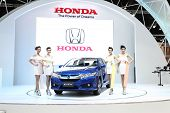 Bangkok - March 25 : Honda City Car With Unidentified Models On Display At The 35Th Bangkok Internat