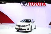 Nonthaburi - March 25: Toyota All New Corolla Altis Esport Car On Display At The 35Th Bangkok Intern