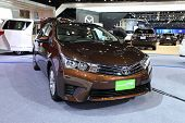 Nonthaburi - March 25: Toyota Corolla Advance Cng Car On Display At The 35Th Bangkok International M