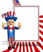 uncle sam with victory sign