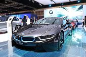 Nonthaburi - March 25: Bmw I8 Luxury Car On Display At The 35Th Bangkok International Motor Show On