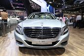 Nonthaburi - March 25: Mercedes Benz S300 Bluetec Hybrid Car On Display At The 35Th Bangkok Internat
