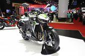 Bangkok - March 25 :kawasaki Z1000 Motorcycle On Display At The 35Th Bangkok International Motor Sho