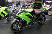 Bangkok - March 25 : Kawasaki Ninja 650 Motorcycle On Display At The 35Th Bangkok International Moto