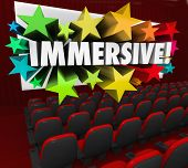 Immersive Word Movie Theatre Screen Fun Entertainment