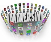 Immersive Word 3D App Tiles Programs Software