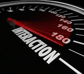 Interaction Speedometer Get Involved Participate Fast