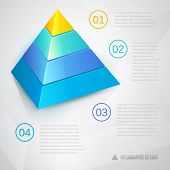 Presentation template with pyramid