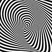 Design Monochrome Whirlpool Movement Illusion Background