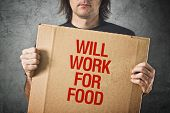 stock photo of unemployed people  - Man needs a job - JPG