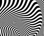 Design Monochrome Whirl Movement Illusion Background