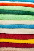 stack of colorful towels