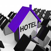 Hotel House Shows Place To Stay And Units