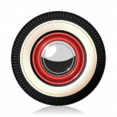 Retro car wheel.