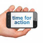Timeline concept: Time for Action on smartphone