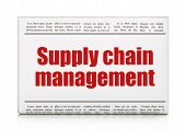 Marketing concept: newspaper headline Supply Chain Management