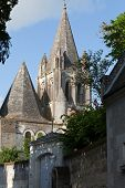 Collegiale St-Ours beside castle of Loches. Loire Valley France