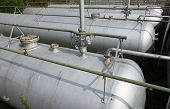 picture of cistern  - gray giant tanks and cistern the storage of gas and liquids - JPG
