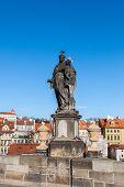 Sculpture On Charles Bridge In Prague, Czech Republic