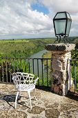 Altos De Chavon Cafe With View On Tropical River