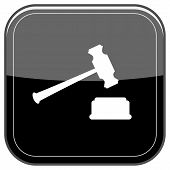 Judge Hammer Icon