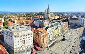 picture of banned  - View from above of Ban Jelacic Square in Zagreb Croatia - JPG