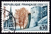 Postage Stamp France 1963 Church And Ramparts, Caen