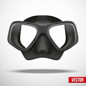Underwater diving scuba mask vector