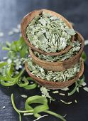 Stacked Bowls With Tarragon