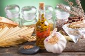 stock photo of vinegar  - Plants for healthy lifestyle - JPG