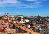 picture of dom  - Porto old town with Porto Cathedral and Dom Luis Bridge - JPG