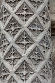 Floriated Column at the entrance Blois Castle in Val-de Loire France