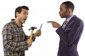 image of blue-collar-worker  - Blue collar worker vs white collar professional - JPG