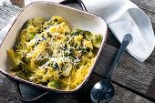 image of brussels sprouts  - Spaghetti squash tossed with roasted brussel sprouts and asiago cheese - JPG