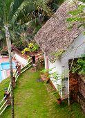Tropical beach hotel in India