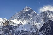 Everest Mountain Peak (sagarmatha), Highest Mountain In The World, Nepal.