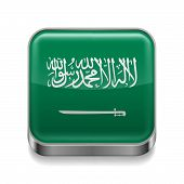 Metal  icon of Saudi Arabia