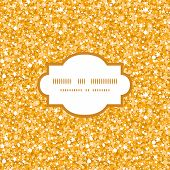 Vector golden shiny glitter texture frame seamless pattern background