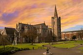 Picture of st. Patrick's cathedral in dublin, ireland.