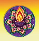 picture of kolam  - Diwali candle light  - JPG