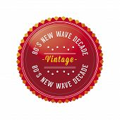 80´s Vintage, Retro Style Badge