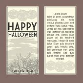 Halloween invitation template.
