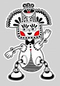 original modern cute ornate doodle fantasy monster personage