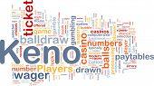 Keno Gambling, Background Concept