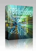 Biotechnology Word Cloud Glowing Box Package