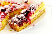 Cake With Blackberries And Raspberries