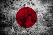 Grunge Flag Of Japan With Capital In Tokyo
