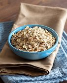 Uncooked Rolled Oats In A Bowl